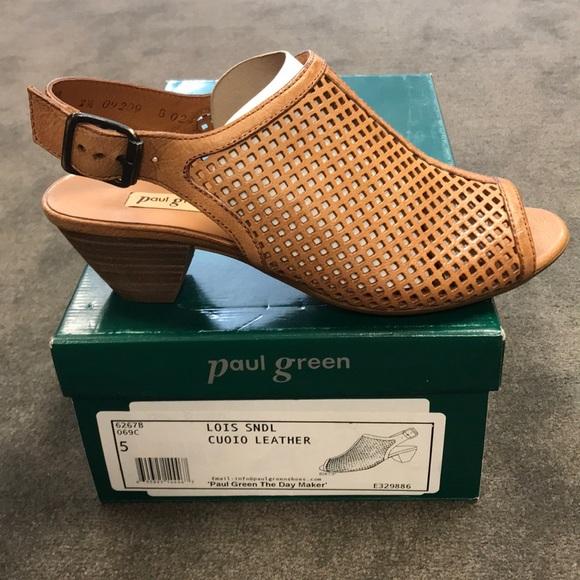 half off b56b6 708dd Paul Green Lois Slingback Sandal Size 5 Boutique